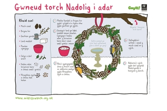 Christmas wreath welsh