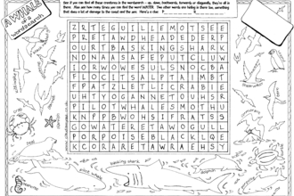 Coastal wordsearch